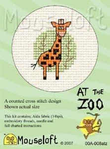 Mouseloft Giraffe At The Zoo cross stitch kit